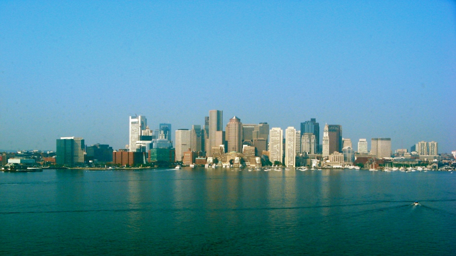 Flying into Boston's Logan