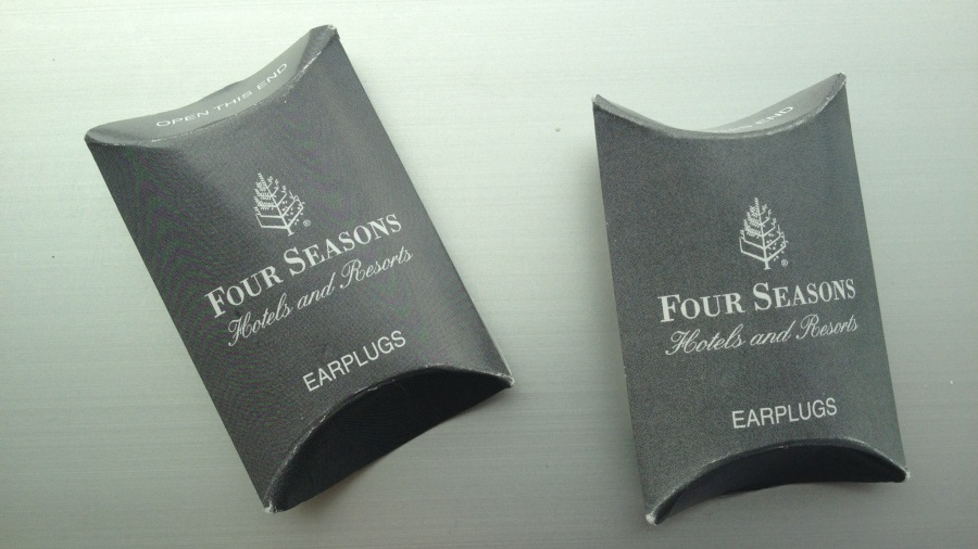 earplugs at the Four Seasons in Chicago