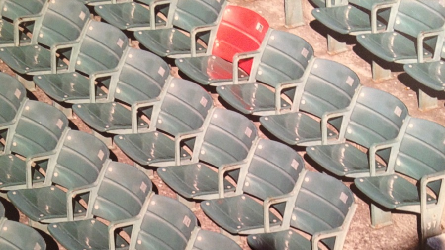 Fenway Park's red seat