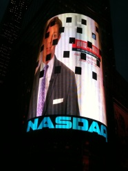 Surprised (pleasantly) by our team with this video in Times Square