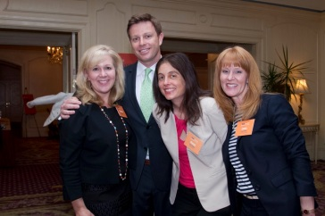 Michelle, me, Naomi and Laura at the Ritz-Carlton