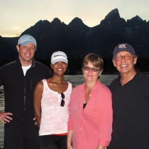Al, Mika, Joan + Bill in Jackson, WY