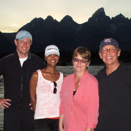 Al, Mika, Joan + Bill in Jackson, WY