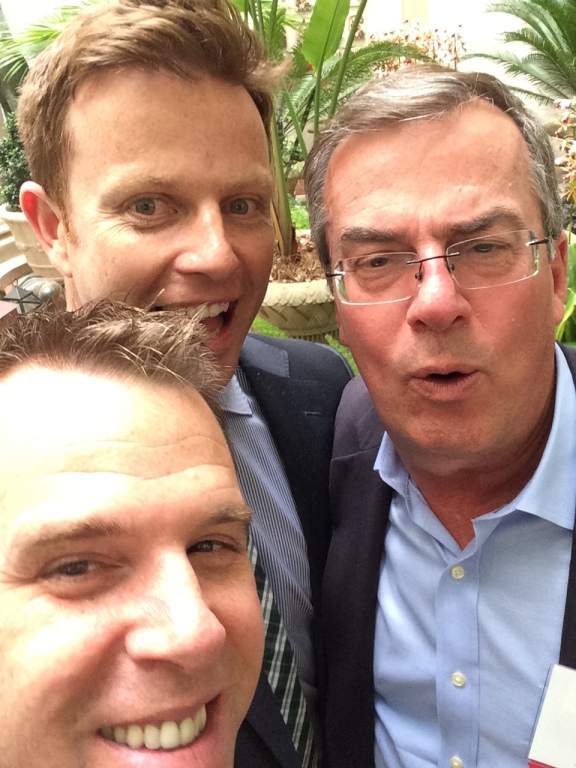 Selfies w/ Bank Director's former associate publisher, John Cimba, and one of my 1st colleagues (starting in '99), Jeff Davy. GLC will be proud.
