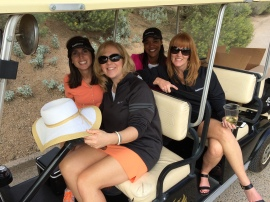 The prize patrol -- out and about on the golf course