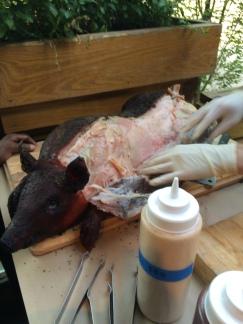 Butchering the pig