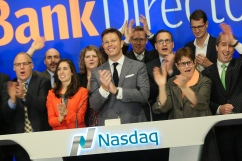 Ringing the closing bell with some of our friends