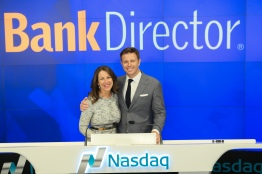 My sister, Suzanne, with a surprise appearance at Nasdaq
