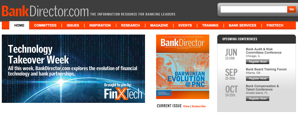 A Technology Takeover on BankDirector.com